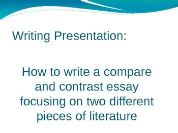 Thesis sentence in a compare and contrast essay